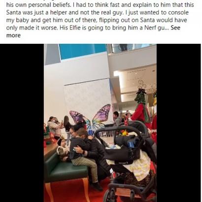 【海外発!Breaking News】サンタにおもちゃを断られ、溢れる涙が止まらない 少年の願いを一蹴したサンタとその理由に非難殺到(米)<動画あり>