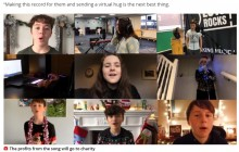 【海外発!Breaking News】祖父母に会えない子ども達が集結 思いを綴った歌で「バーチャル・ハグ」を届ける(英)<動画あり>