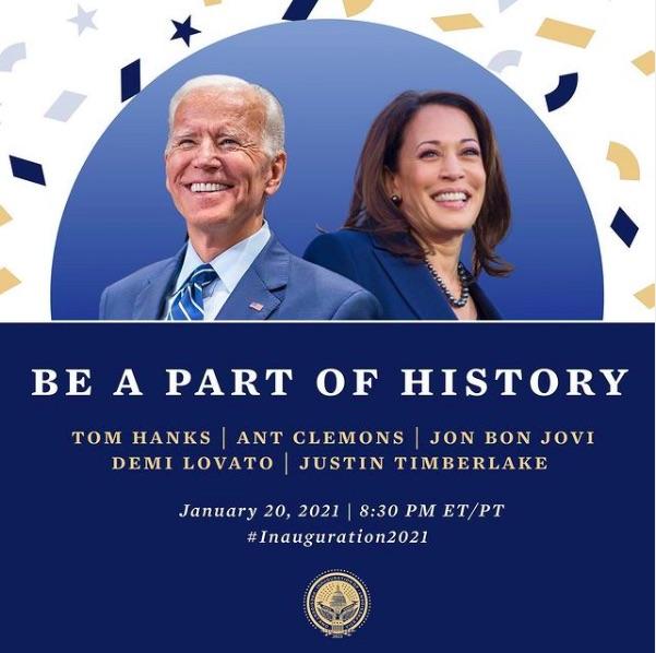 バイデン氏&ハリス氏の就任式は今月20日に開催予定(画像は『Biden Inaugural Committee 2021年1月14日付Instagram「Following the historic inauguration of @joebiden and @kamalaharris, we will be hosting a special program at 8:30pm ET/PT!」』のスクリーンショット)