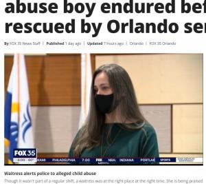 機転を利かせて男児を救ったフラビアニさん(画像は『FOX 35 Orlando 2021年1月15日付「'It was torture' Police describe abuse boy endured before being rescued by Orlando server」』のスクリーンショット)