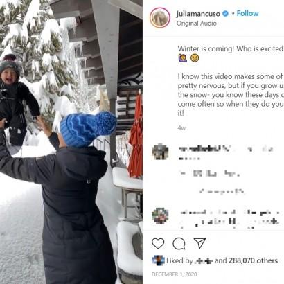 【海外発!Breaking News】1歳児を積雪の中に投げた母親、批判の声に「安全に配慮した上で息子は楽しく遊んでいる」と猛反論(米)<動画あり>
