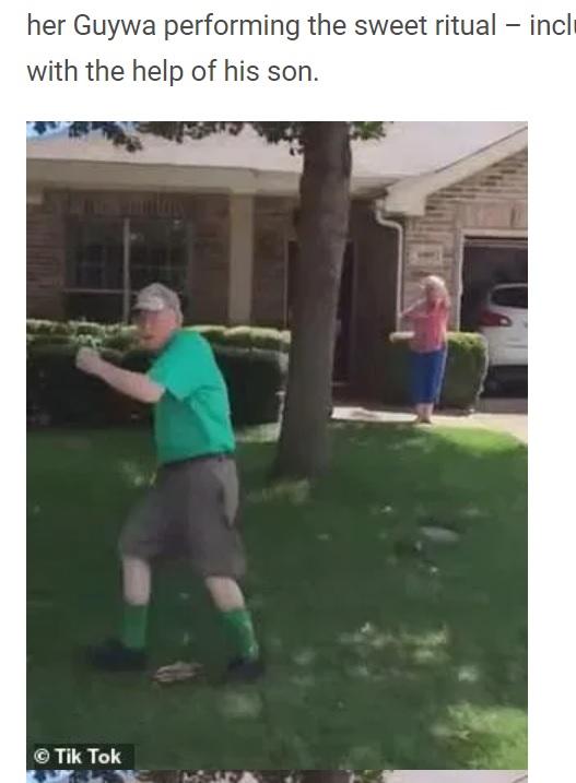 フジュワさんのもとを訪れると毎回このように見送ってくれるという(画像は『WhatNew2Day 2021年1月16日付「Beautiful videos of the 89-year-old grandfather's farewell ritual go viral」(Tik Tok)』のスクリーンショット)