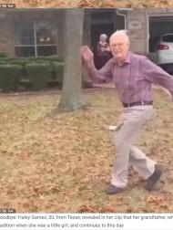 【海外発!Breaking News】車で帰る孫を走って見送り続ける89歳のおじいちゃん その姿に涙が溢れる(米)<動画あり>