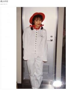 森口博子、20歳頃のアイドル姿(画像は『森口博子 2021年1月11日付オフィシャルブログ「成人の日」』のスクリーンショット)