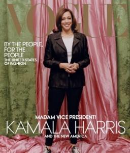 カジュアルな装いで表紙に登場したハリス氏(画像は『Vogue 2021年1月10日付Instagram「Vice President-elect @kamalaharris is our February cover star!」』のスクリーンショット)