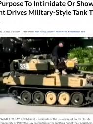 【海外発!Breaking News】閑静な住宅街に現れた戦車に住民困惑 軍事コレクターが購入したものと発覚(米)<動画あり>