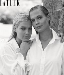アメリア(左)とイライザ(画像は『Tatler 2021年1月25日付Instagram「Lady Eliza and Lady Amelia Spencer are the March cover.」』のスクリーンショット)