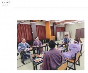 『東北魂TV 2021新春SP!』に出演した石橋貴明(画像は『サンドウィッチマン 富澤たけし 2021年1月4日付オフィシャルブログ「サプライズ」』のスクリーンショット)