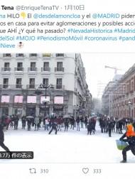 【海外発!Breaking News】50年ぶりの大雪にスペイン人が大はしゃぎ 街で雪合戦も警察により制止<動画あり>