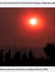 【海外発!Breaking News】「まるで世紀末のよう」南米チリで大規模な火災により空がオレンジ色に染まる<動画あり>
