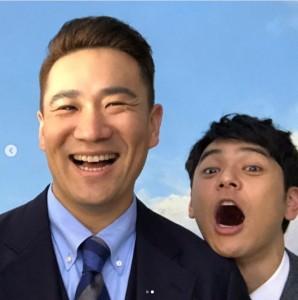 妻夫木聡が投稿した2ショット(画像は『妻夫木聡 Satoshi Tsumabuki 2021年1月29日付Instagram「おかえり、まーくん」』のスクリーンショット)