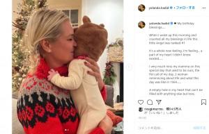 初孫にメロメロのヨランダさん(画像は『YOLANDA 2021年1月11日付Instagram「My birthday blessings.....」』のスクリーンショット)