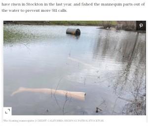 【海外発!Breaking News】「水辺に遺体が…」人騒がせなマネキン人形の不法投棄に警察官も苦笑い(米)