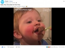 【海外発!Breaking News】初めてチョコレートムースを食べた赤ちゃん、その興奮ぶりにほっこり(英)<動画あり>