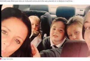 4児の母のミシェルさん(画像は『Plymouth Live 2021年2月3日付「Plymouth mum was left in a coma after family dog bit her」(Image: Keana Ellis)』のスクリーンショット)