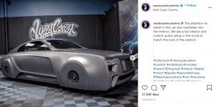 ジャスティンのために改造したロールス・ロイス(画像は『West Coast Customs 2021年2月6日付Instagram「The attention to detail in this car also translates into the Interior.」』のスクリーンショット)