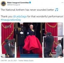 【イタすぎるセレブ達】レディー・ガガを大統領就任式でエスコートした海兵隊員「彼女の大ファンになった」