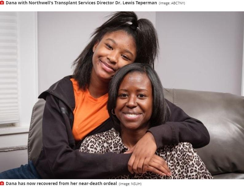 シングルマザーのデーナさん(画像は『Mirror 2021年2月26日付「Woman's nose piercing infection led to urgent liver transplant after organ rotted」(Image: NSUH)』のスクリーンショット)