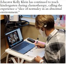 【海外発!Breaking News】病室からオンライン授業を行う卵巣がんの女性 化学療法中に子ども達と向き合う(米)