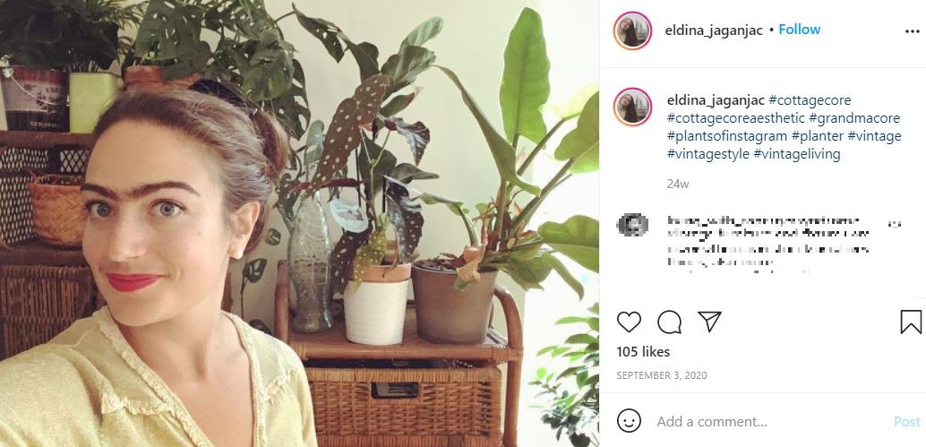 「自分は十分女性らしい」と感じているというエルディナさん(画像は『Eldina Jaganjac 2020年9月3日付Instagram「#cottagecore」』のスクリーンショット)