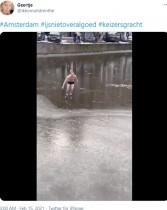【海外発!Breaking News】凍結した運河でアイススケートをした男性に痛い悲劇(オランダ)<動画あり>