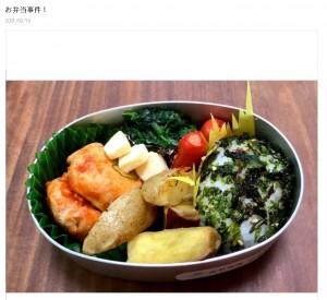 金子恵美氏がブログに掲載した手作り弁当(画像は『金子恵美 2021年2月19日付オフィシャルブログ「お弁当事件!」』のスクリーンショット)