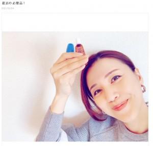 胸骨を痛めてしまった遼河はるひ(画像は『遼河はるひ 2021年2月24日付オフィシャルブログ「最近の必需品!」』のスクリーンショット)