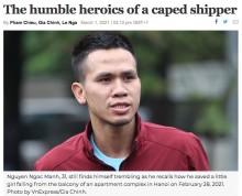12階から転落した2歳女児を受けとめた男性「ただ善い行いをしたかっただけ」(ベトナム)<動画あり>