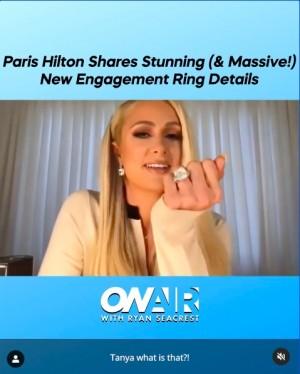【イタすぎるセレブ達】パリス・ヒルトン、超ビッグサイズの婚約指輪を披露 挙式準備も進行中で「今年は大きな年になるわ」