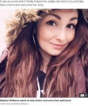 15歳で薬物中毒、過剰摂取19回、ホームレス6年、28歳女性の衝撃ビフォーアフター(米)