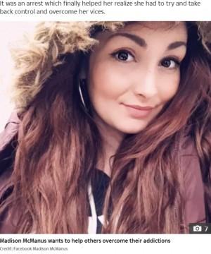 【海外発!Breaking News】15歳で薬物中毒、過剰摂取19回、ホームレス6年、28歳女性の衝撃ビフォーアフター(米)