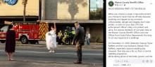 【海外発!Breaking News】真っ白なウエディングドレス姿で交通整理を行う花嫁 「警官になるというのはこういう事」(米)