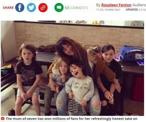 """【海外発!Breaking News】7児を育てるも夜7時半に""""母親業""""を終了する女性「世間の風潮に流される必要はない」(豪)"""
