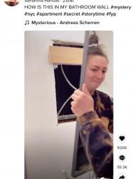 【海外発!Breaking News】洗面所のすきま風が気になった女性、鏡の裏に謎の部屋へ通じる穴を発見(米)<動画あり>