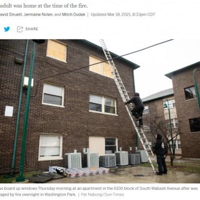 【海外発!Breaking News】火災から逃れるため決断を迫られた8歳少女、3階窓から地面のマットレスにジャンプ(米)