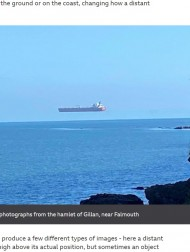 【海外発!Breaking News】真っ青な空にポツンと浮かぶ船 原因は蜃気楼か霧か、意見割れる(英)