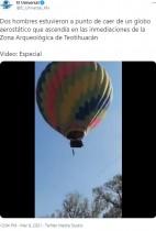 【海外発!Breaking News】上昇する熱気球のバスケットから落下した男性、奇跡的に助かる(メキシコ)<動画あり>