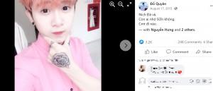 まだ少し昔の面影が残っているクエンさん(画像は『Đỗ Quyền 2015年8月17日付Facebook「Ních Đã về.」』のスクリーンショット)