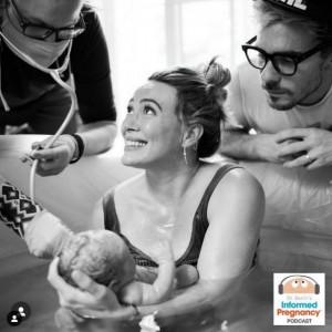 第3子も水中出産で(画像は『Hilary Duff 2021年4月16日付Instagram「Spoke with the amazing @doctorberlin again about my birth story with sweet Mae!」』のスクリーンショット)
