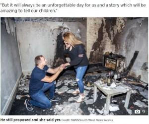 【海外発!Breaking News】部屋が全焼、雪山で滑落…プロポーズでとんだ災難に見舞われたカップルたち<動画あり>