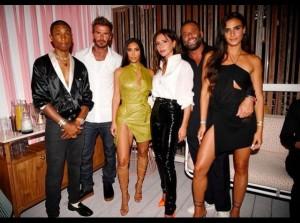 バースデー前日にはキム・カーダシアン、ファレル・ウィリアムスらと一夜を楽しんだヴィクトリア(画像は『Victoria Beckham 2021年4月17日付Instagram「I feel so blessed to have met so many incredible people here in Miami!」』のスクリーンショット)