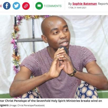 【海外発!Breaking News】「私は癒しを与えている」信徒の顔にオナラを放つ牧師に非難の声(南ア)