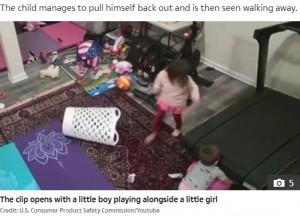 【海外発!Breaking News】ペロトン社ランニングマシンの下に引き込まれる子供が急増 動画公開で緊急警告(米)<動画あり>