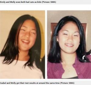 髪型がそっくりな2人(画像は『Metro 2021年4月20日付「Identical twins reunite on 36th birthday after being adopted from Korea at birth by separate US families」(Picture: GMA)』のスクリーンショット)