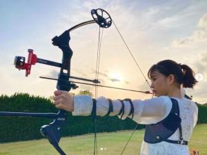 森川葵、アーチェリーに初挑戦(画像は『森川葵 Morikawa Aoi 2021年4月28日付Instagram「みなさんこんにちは。」』のスクリーンショット)