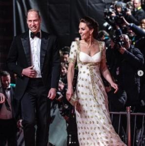 2020年の授賞式に出席したウィリアム王子夫妻(画像は『Duke and Duchess of Cambridge 2020年2月3日付Instagram「This evening, The Duke and Duchess of Cambridge attended the @bafta Awards」』のスクリーンショット)