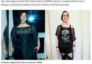 【海外発!Breaking News】大好きなヘビメタで110キロ超から64キロまで大減量した女性 「お腹の皮は努力の証」(英)