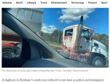 【海外発!Breaking News】衝突事故でトラックに積まれた鶏の内臓が散乱 「太陽で焼かれていた」と目撃者(豪)
