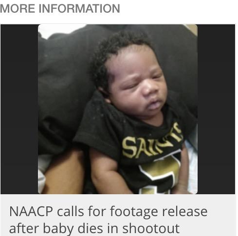 生後3か月だったラメオ君が犠牲に(画像は『FOX10 News 2021年5月17日付「Mother, son and nephew laid to rest in Mississippi following murder, chase and gun battle on I-10」』のスクリーンショット)