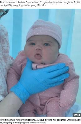 【海外発!Breaking News】「幼児が産まれましたよ」と医師 5840gの赤ちゃん誕生で母仰天(英)